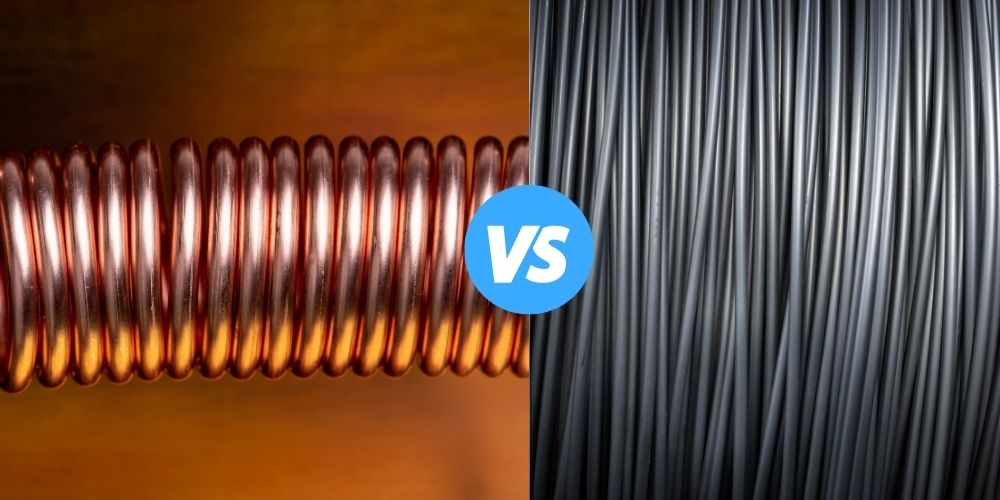Copper Coil or aluminum coil for AC