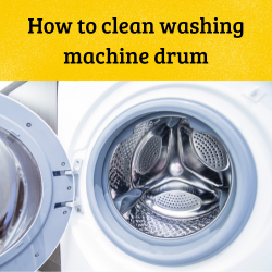 How to clean washing machine drum