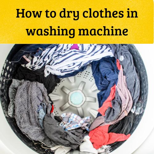 washing machine drying clothes
